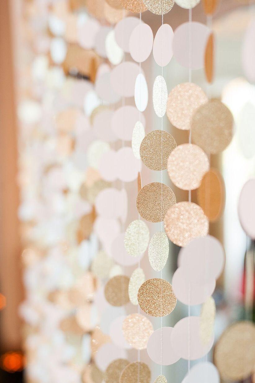 paper wedding garland