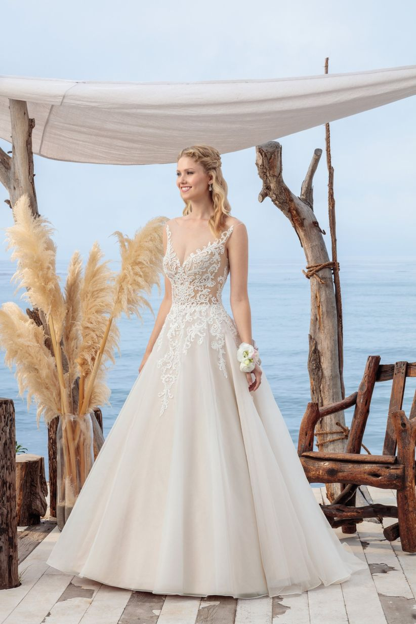 beloved by casablanca wedding dress