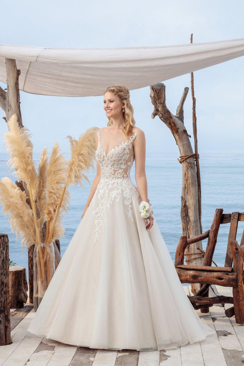 beloved by casablanca wedding dress