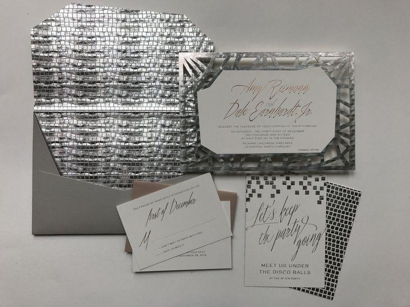 ceci new york silver invitation