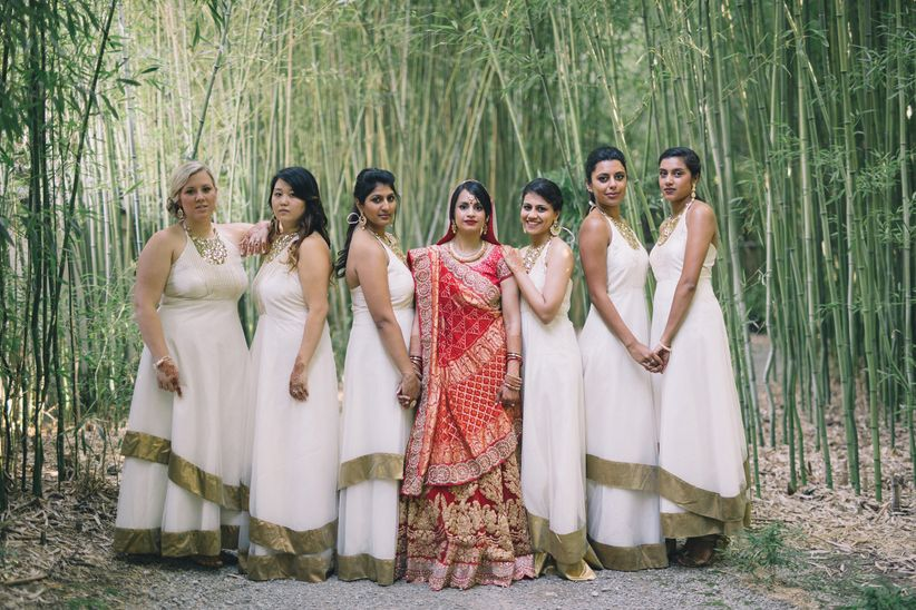 Indian Bridal Party Looks to Inspire Your Own Bride Tribe - WeddingWire