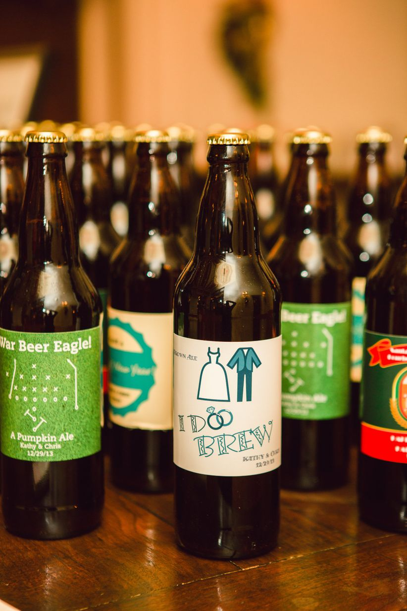 beer with personalized labels
