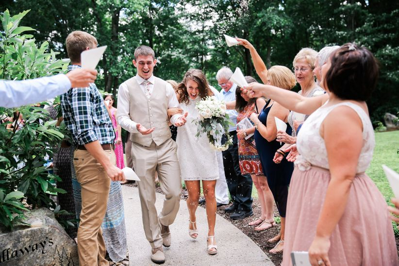 10 creative wedding send off ideas that aren t sparklers weddingwire