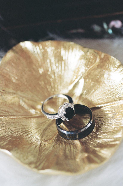 onyx engagement ring