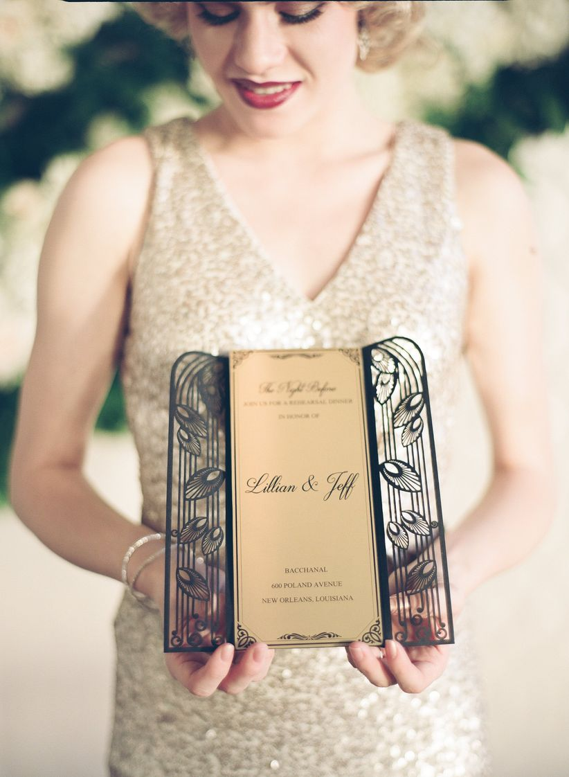 Gastby wedding invitations