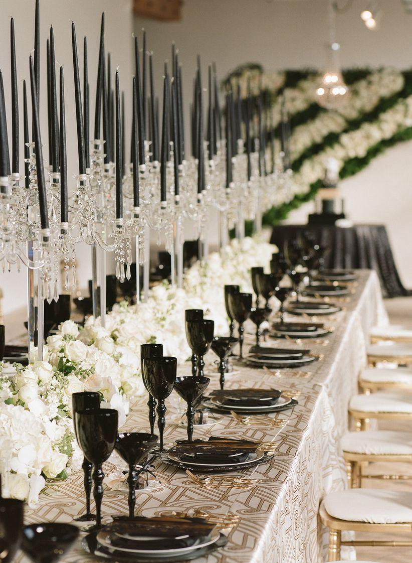 Gatsby wedding centerpieces