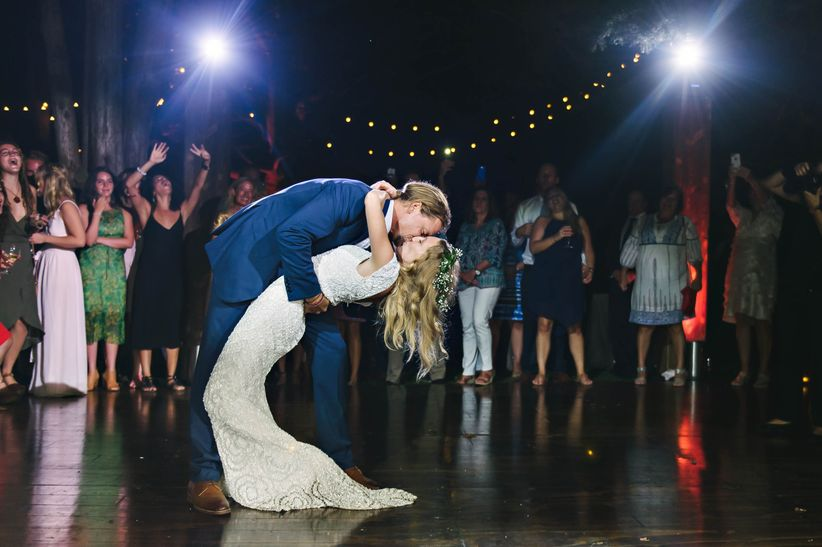 couple dip first dance