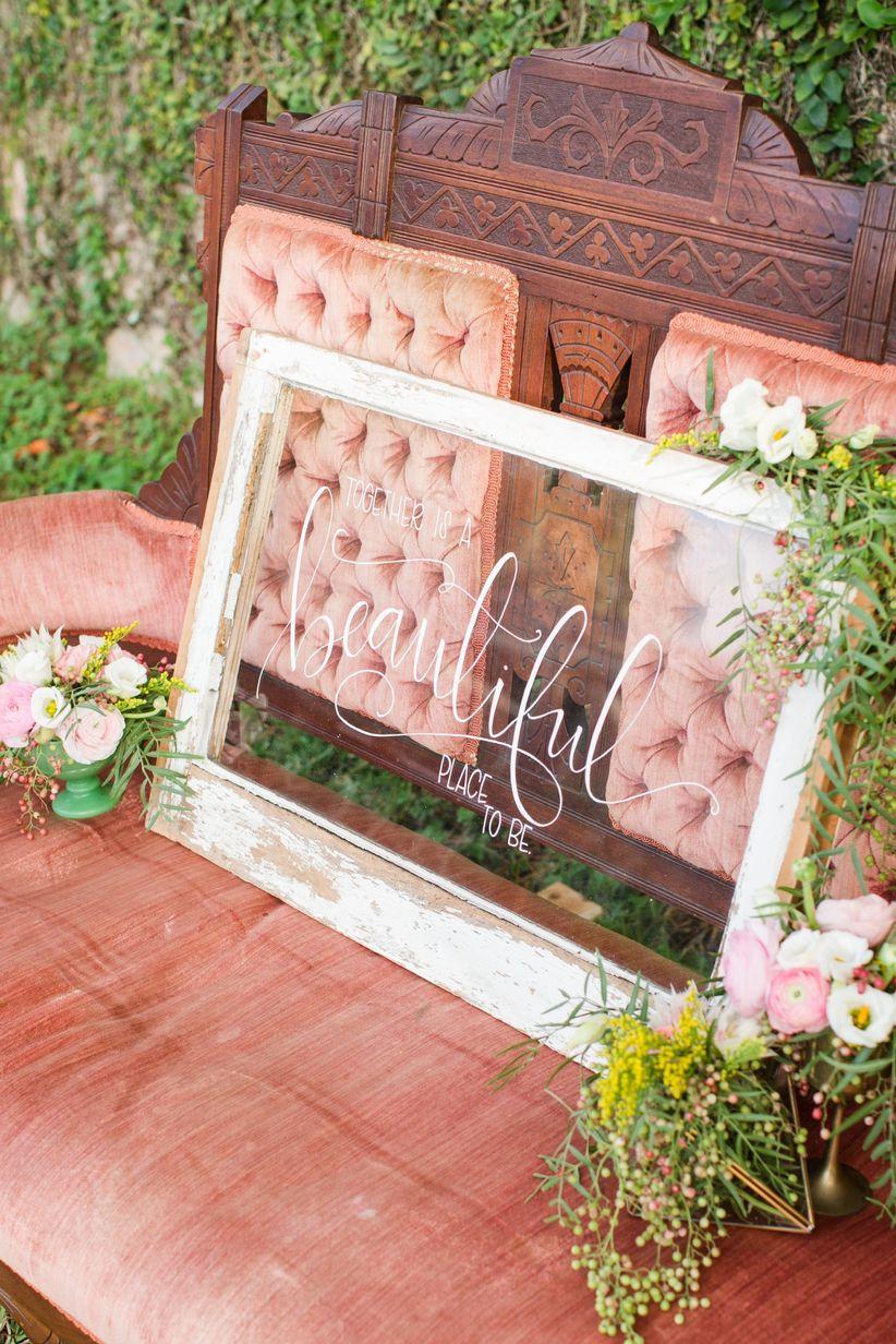 romantic wedding sign ideas