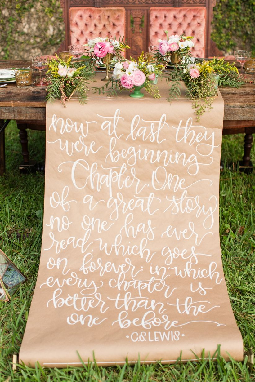 love quote wedding decor