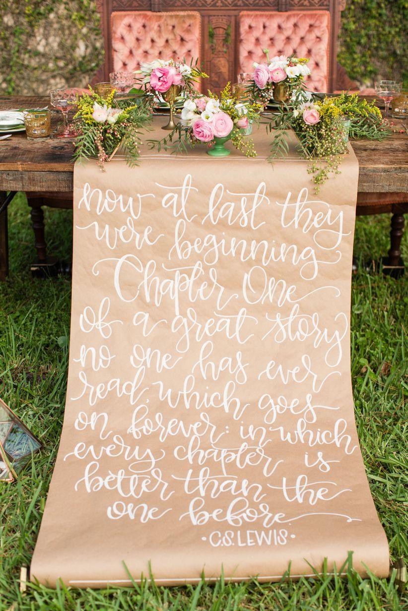 love quote wedding decor