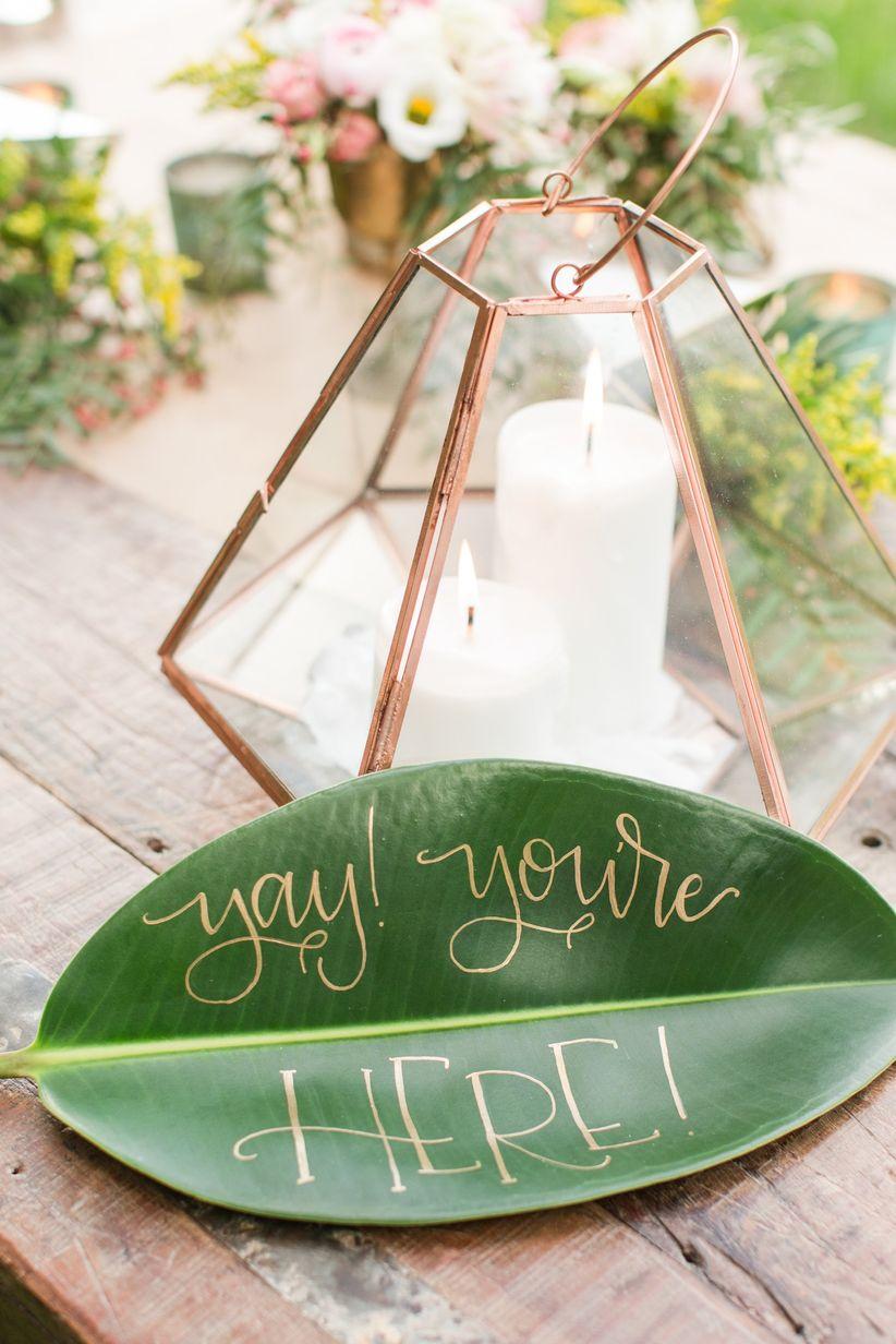 creative wedding sign ideas