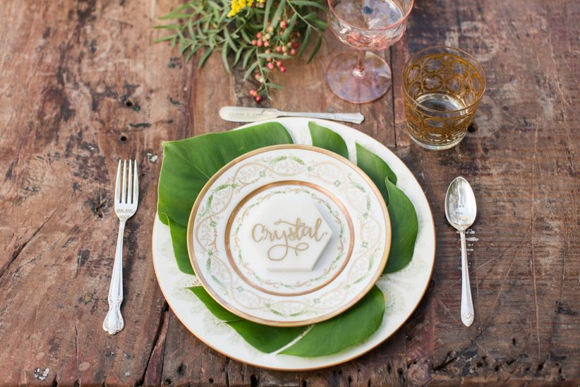 modern tropical wedding ideas