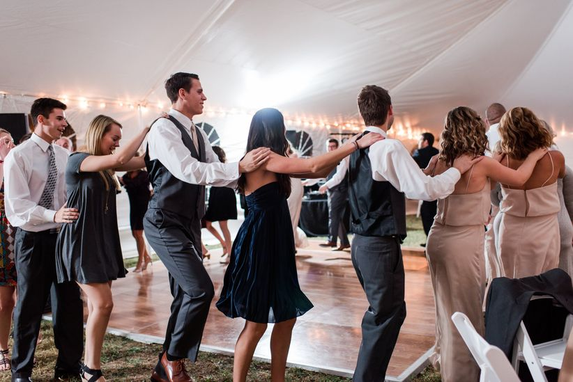 wedding guests dance floor