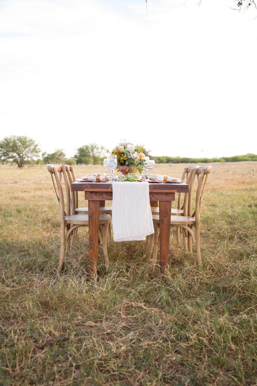 rustic tablescape on a farm - dawn elizabeth studios