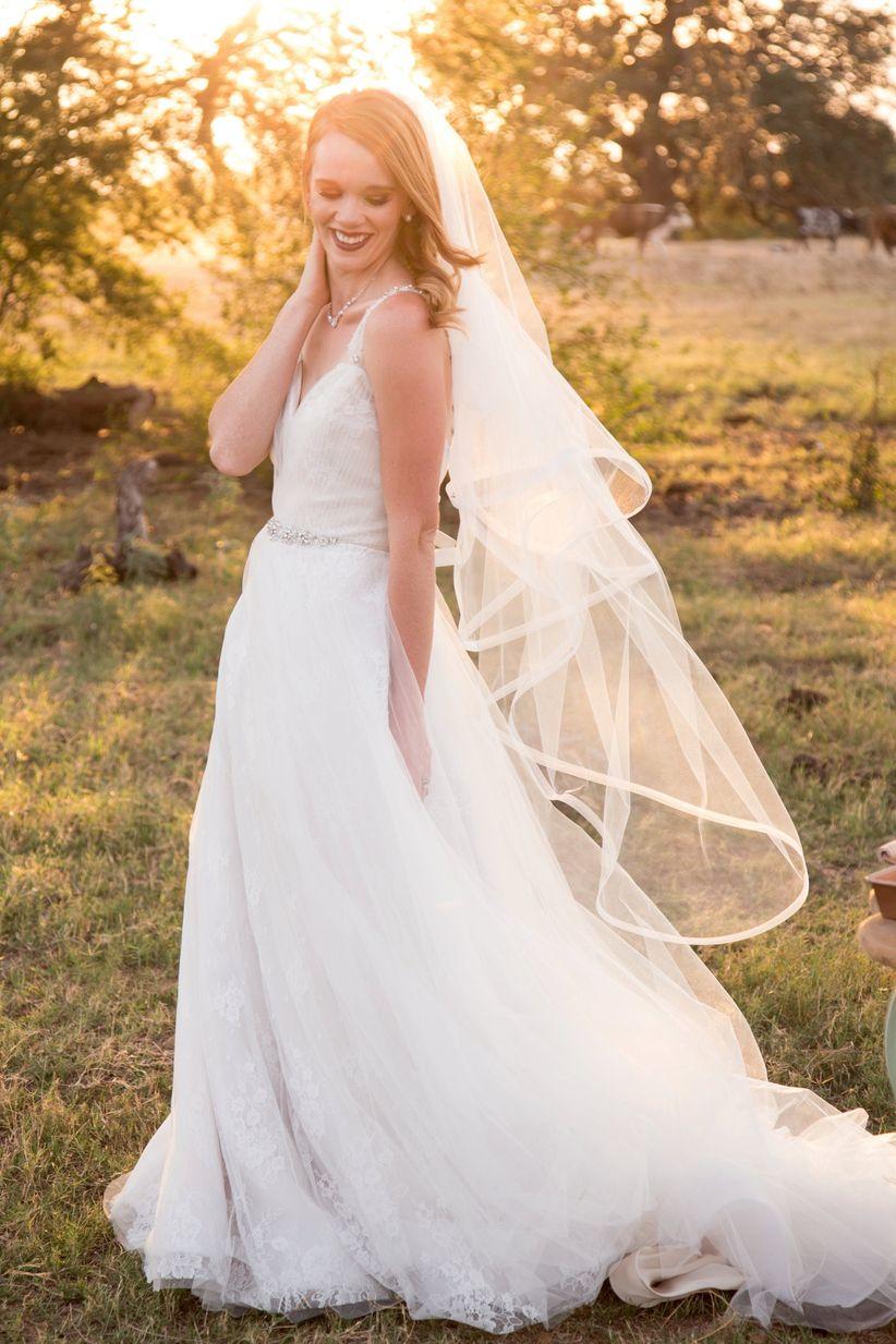 bride a-line tulle wedding dress - dawn elizabeth studios