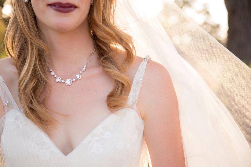 bride silver crystal statement necklace - dawn elizabeth studios