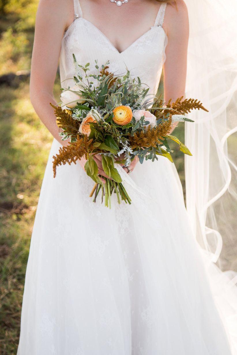 rustic fall garden style bouquet - dawn elizabeth studios