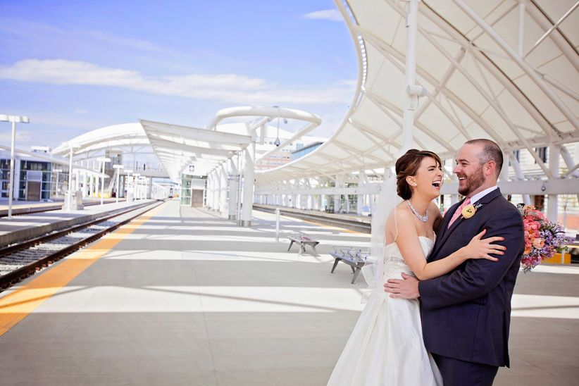couple at denver rail station