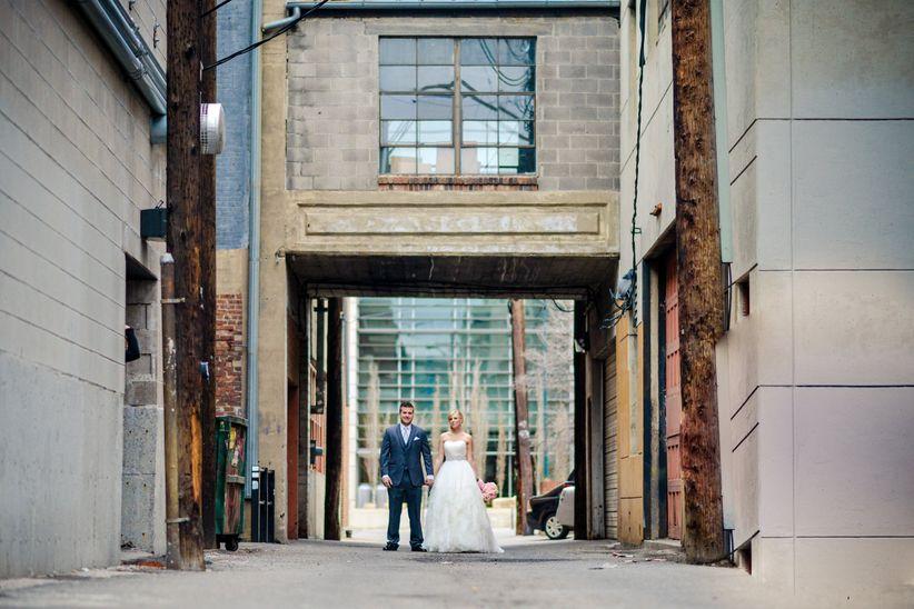 couple in denver wedding