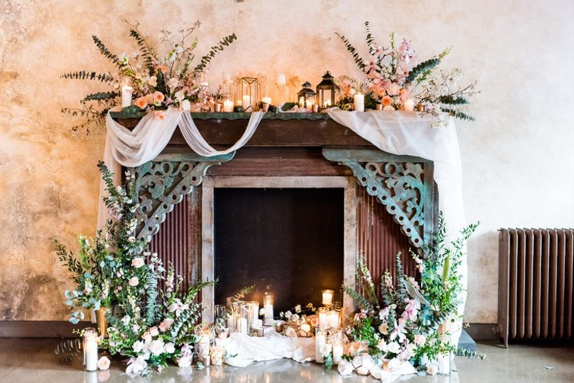 Wedding Fireplace Mantel Decorations