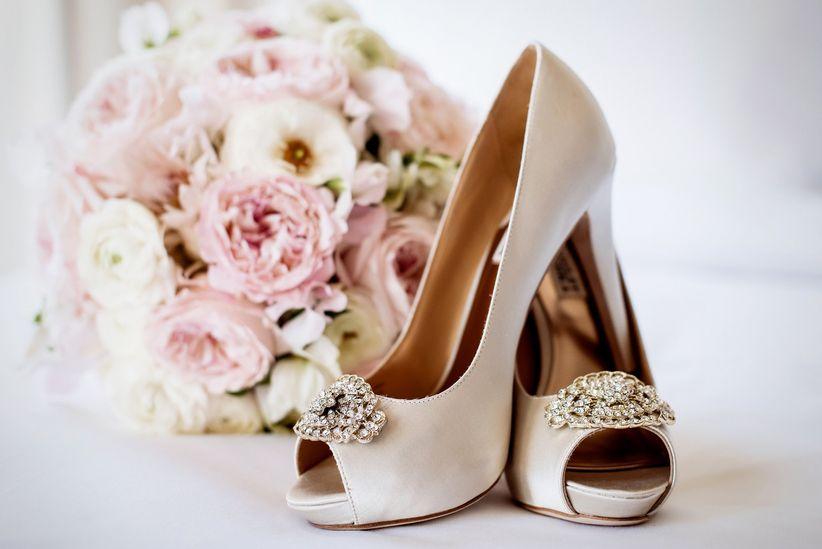 Blush Badgley Mischka heels
