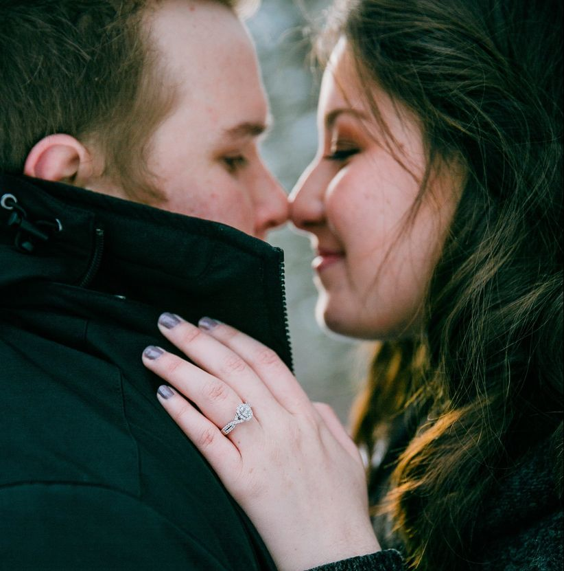 eskimo kiss engagement announcement
