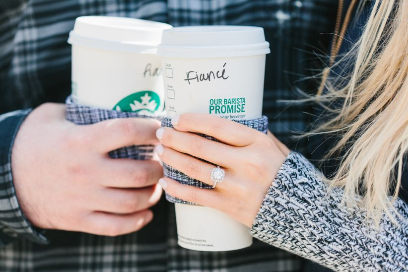 starbucks engagement announcement