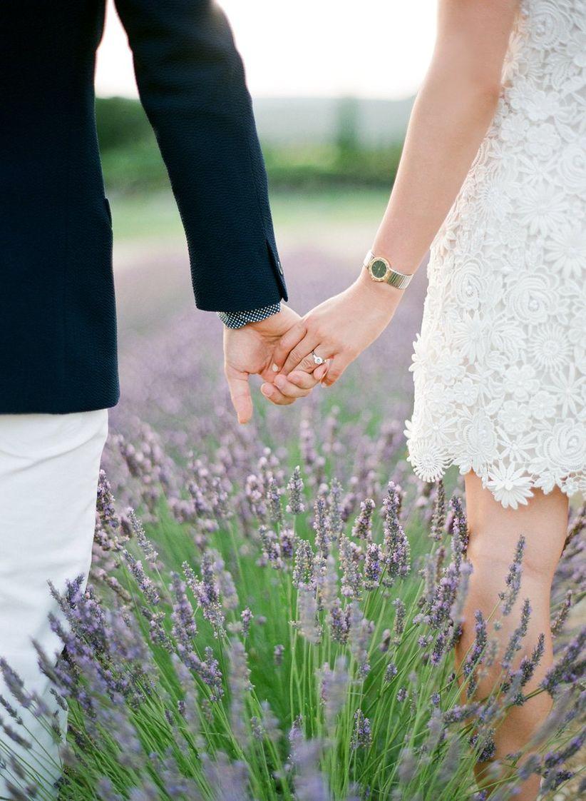lavender field engagement photo