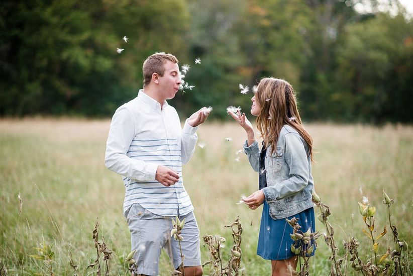 outdoor engagement photo
