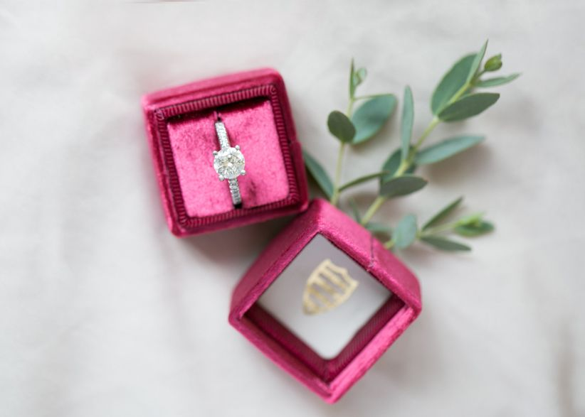 ring in velvet ring box