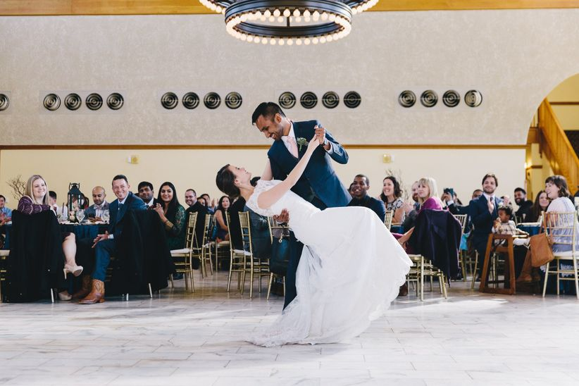 couple performing first dance