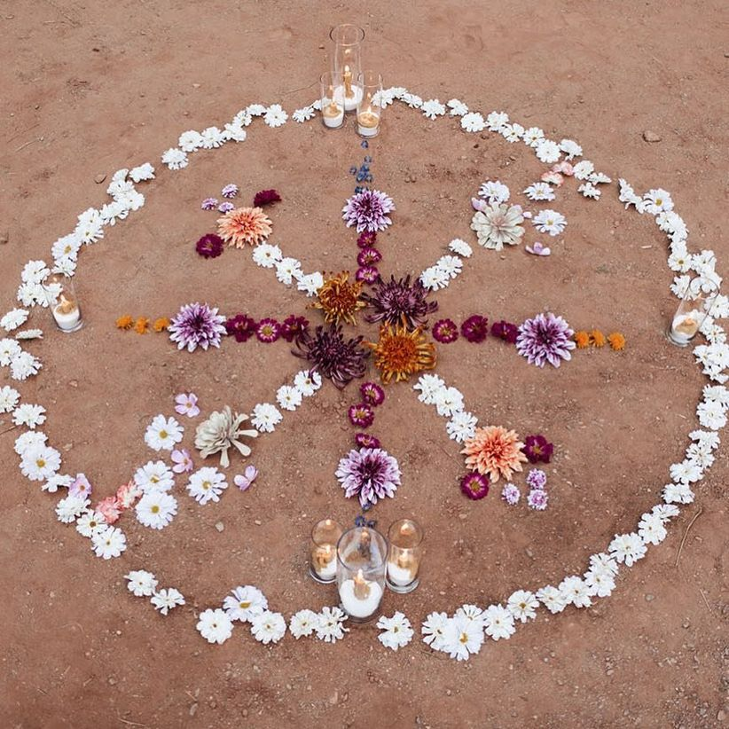 flower mandala for bohemian wedding