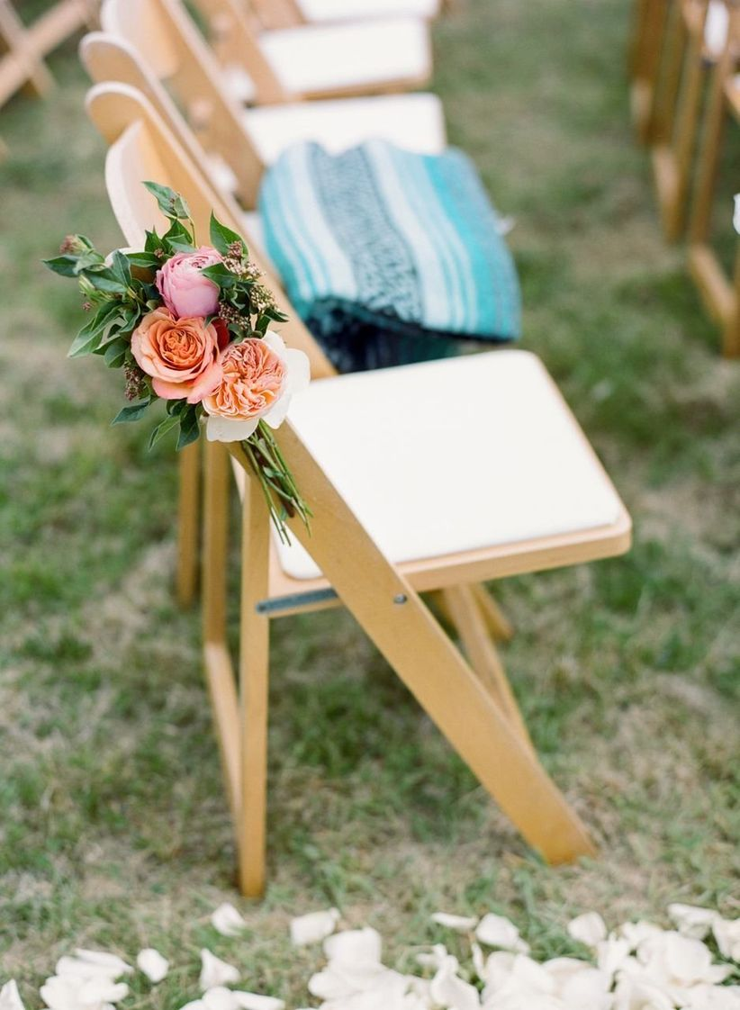 folding lawn chair at ceremony