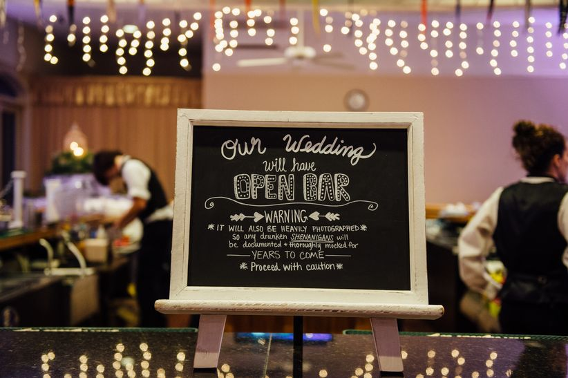 f557765f6a6b 15 Funny Wedding Signs That Will Make Your Guests LOL - WeddingWire