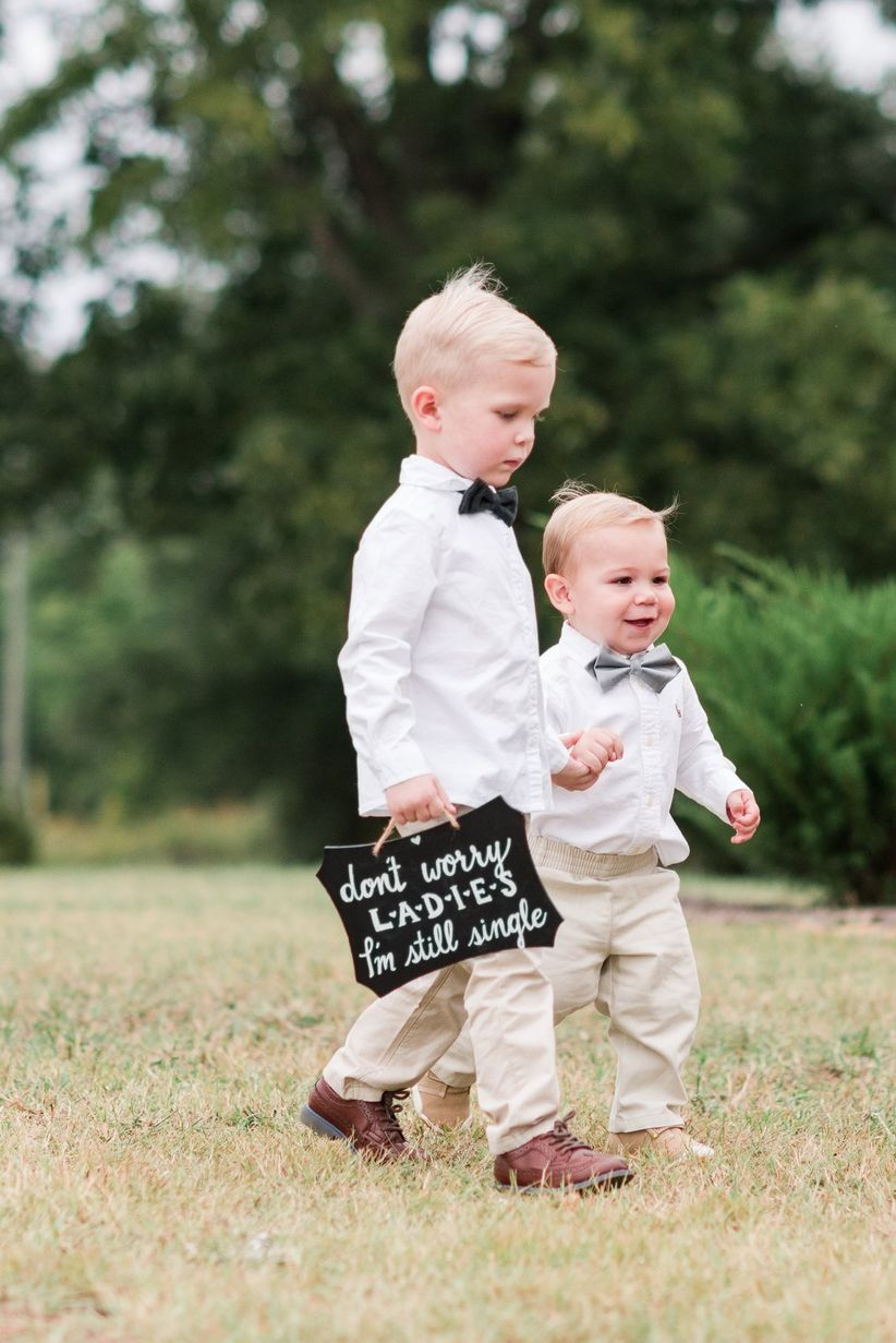 ring bearers sign