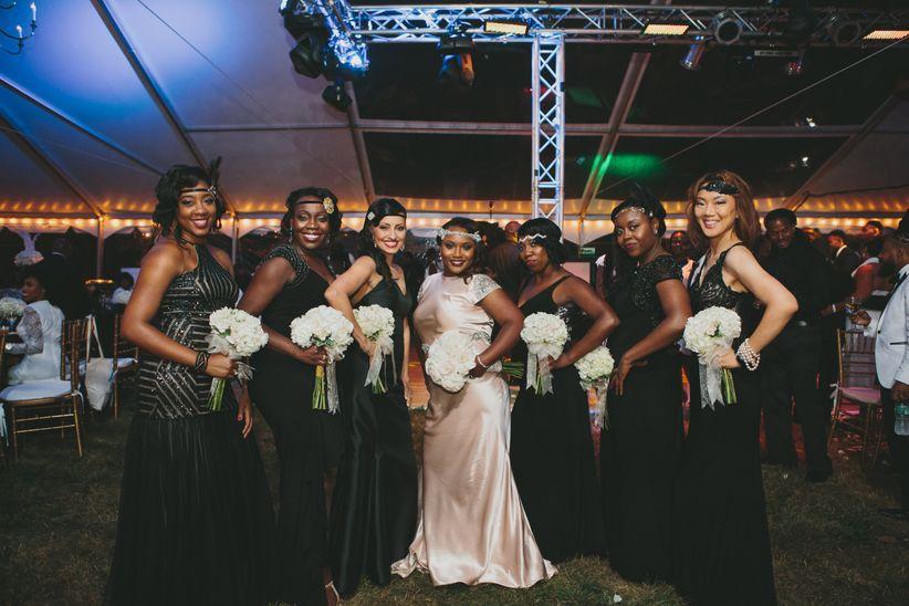 gatsby wedding bridesmaid