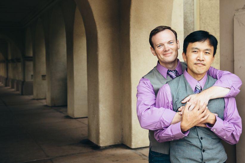 gay engagement photo