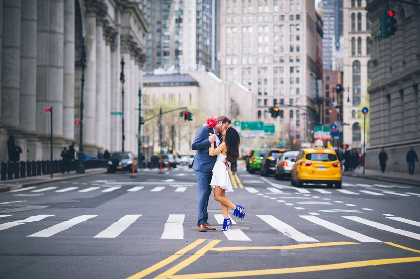 couple in nyc wedding