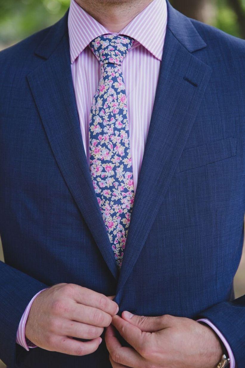 men's floral tie