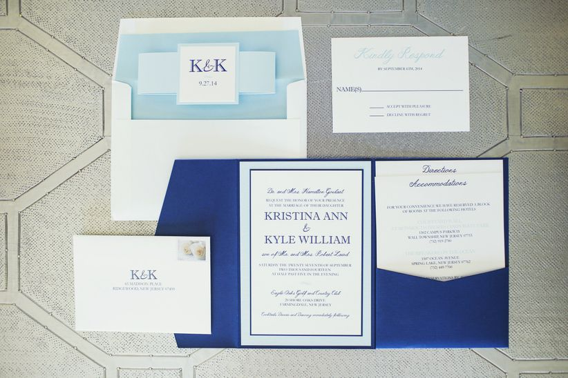 Which wedding invitation inserts do you need weddingwire here is a list of the different types of wedding invitation enclosures that you can include with your wedding invitation stopboris Choice Image