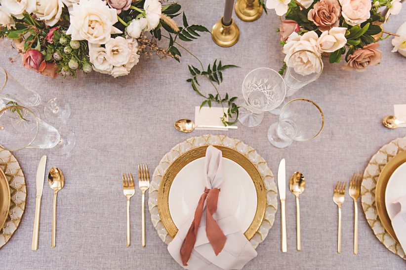 decor of tablescape