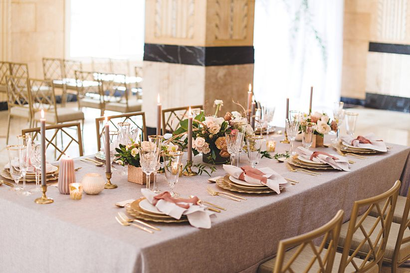 tablescape with glam details