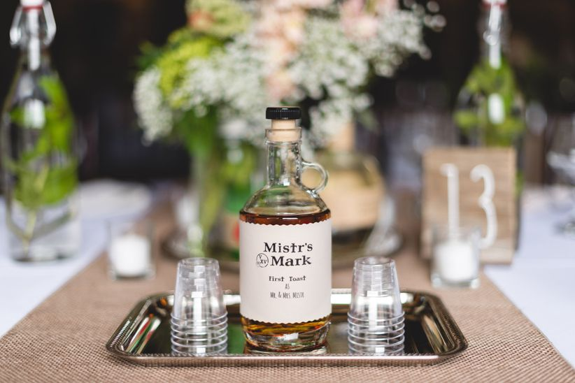bourbon at wedding