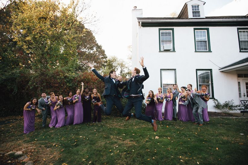 grooms jumping