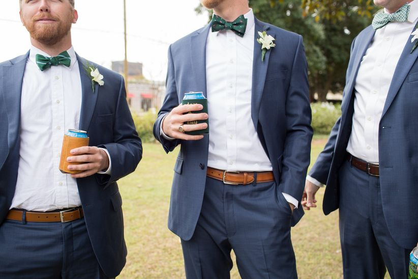 The 7 Rules Of Mismatched Groomsmen Suits Weddingwire