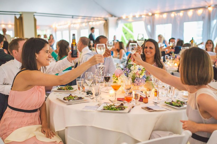 guests toasting erik kruthoff photography