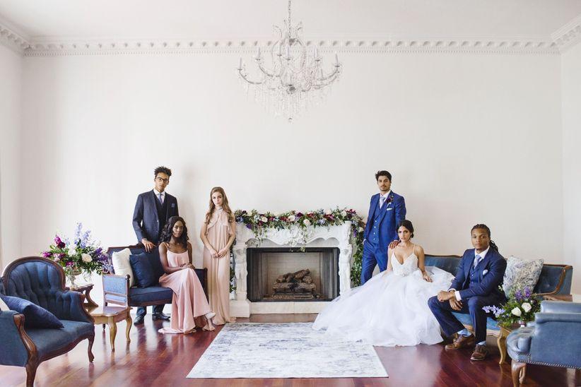 hamilton themed wedding ideas wedding party