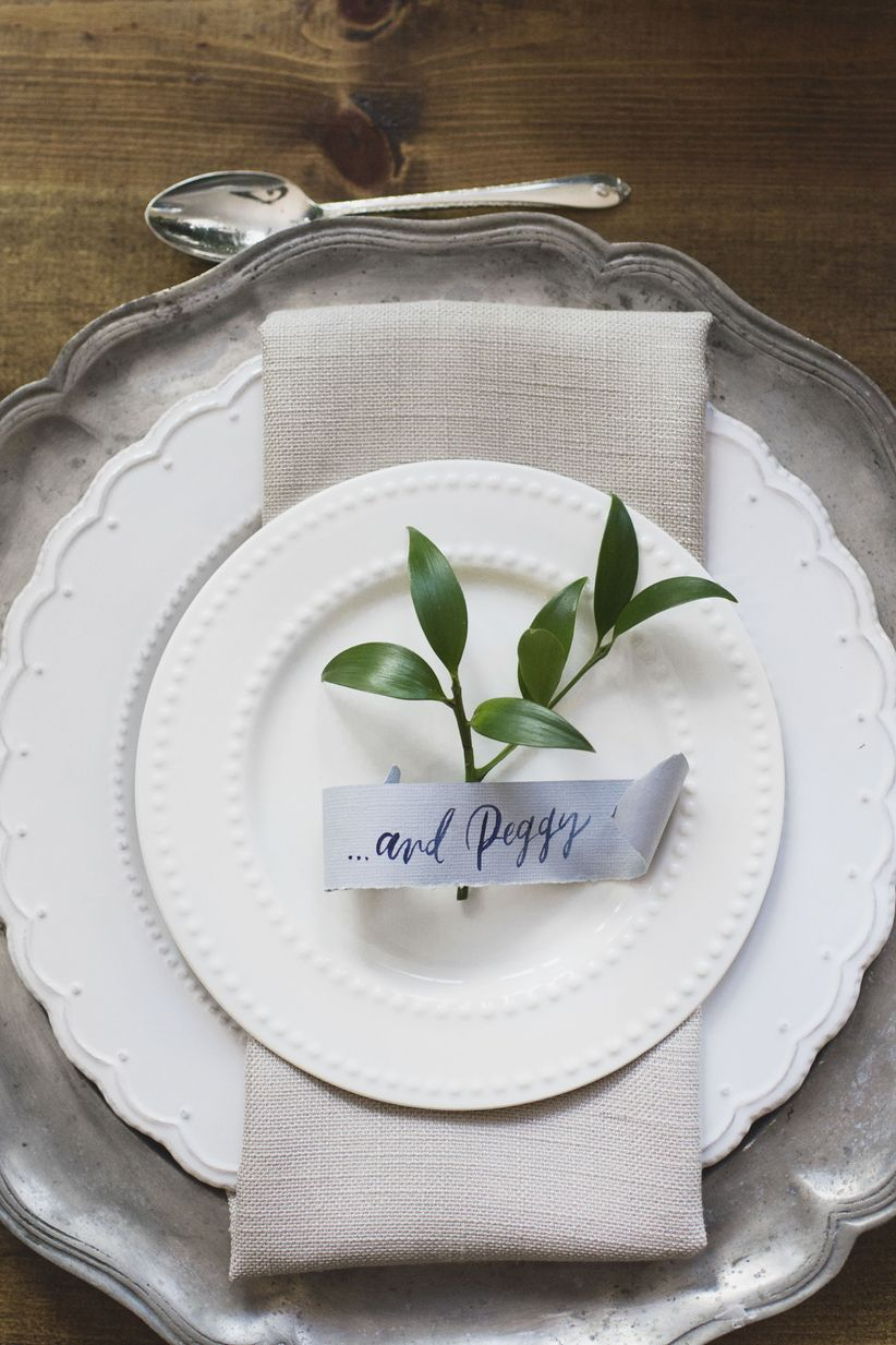 hamilton themed wedding ideas place setting