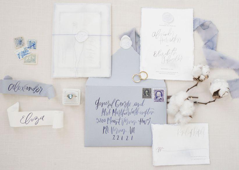 hamilton inspired wedding invitations