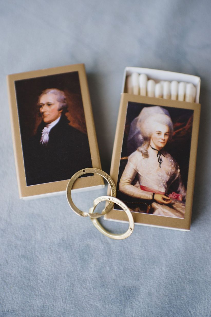 hamilton inspired wedding favors
